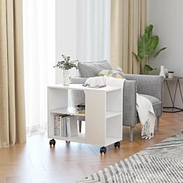 Sivupöytä valkoinen 70x35x55 cm lastulevy_1