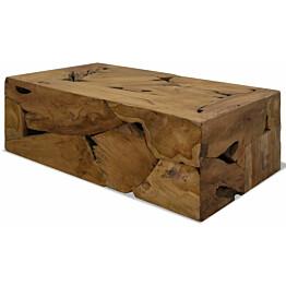 Sohvapöytä 90x50x35 cm aito tiikki ruskea_1