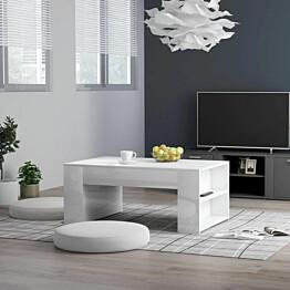 Sohvapöytä korkeakiilto valkoinen 100x60x42 cm lastulevy_1