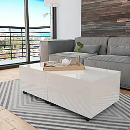 Sohvapöytä korkeakiilto valkoinen 120x60x35 cm_1