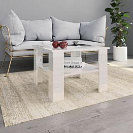 Sohvapöytä korkeakiilto valkoinen 60x60x42 cm lastulevy_1