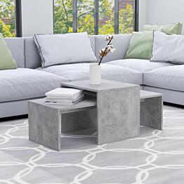 Sohvapöytäsarja betoninharmaa 100x48x40 cm lastulevy_1