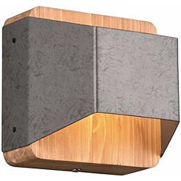 LED-seinävalaisin Trio Arino, 12cm, antiikkiteräs