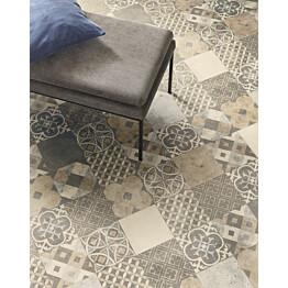 Vinyylimatto Tarkett Iconik Trend Zaragoza Tile Cement leveys 3 m
