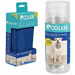 Koiran viilennyssetti Cooler L-kokoinen matto ja L/ x L- kokoinen huivi