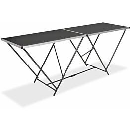 Taittuva tapetointipöytä mdf ja alumiini 200x60x78 cm_1