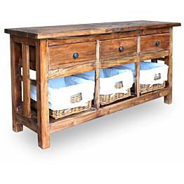 Tarjoilupöytä täysi uusiokäytetty puu 100x30x50 cm_1