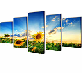 Taulusarja auringonkukka 100 x 50 cm_1