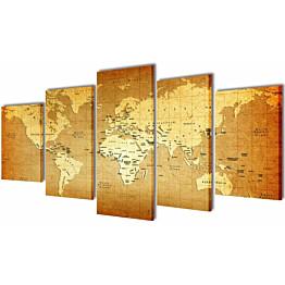 Taulusarja maailman kartta 100 x 50 cm_1