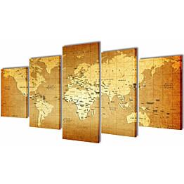 Taulusarja maailman kartta 200 x 100 cm_1