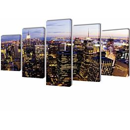 Taulusarja new york taivaanranta 100x50 cm_1