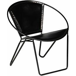 Tuoli musta aito nahka_1