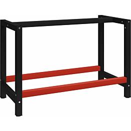 Työpöydän runko metalli 120x57x79 cm musta ja punainen_1