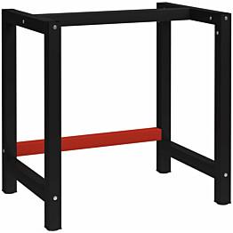 Työpöydän runko metalli 80x57x79 cm musta ja punainen_1