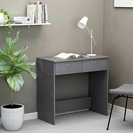 Työpöytä harmaa 80x40x75 cm lastulevy_1