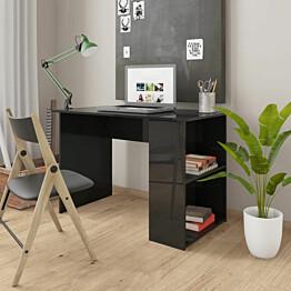 Työpöytä korkeakiilto musta 110x60x73 cm lastulevy_1