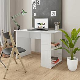 Työpöytä korkeakiilto valkoinen 110x60x73 cm lastulevy_1