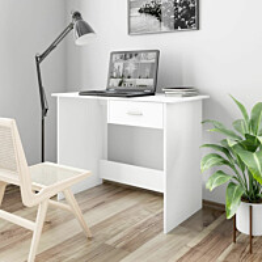 Työpöytä valkoinen 100x50x76 cm lastulevy_1