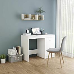 Työpöytä valkoinen 100x50x76 lastulevy_1