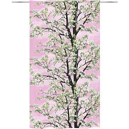 Sivuverho Vallila Omenapuu 140x250cm vaaleanpunainen