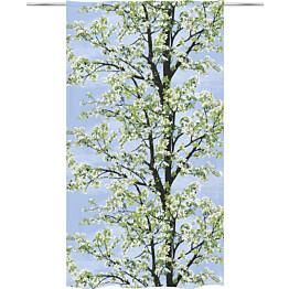 Sivuverho Vallila Omenapuu 140x250cm sininen/vihreä