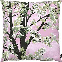 Tyynynpäällinen Vallila Omenapuu 43x43cm vaaleanpunainen