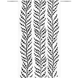 Sivuverho Vallila Erin 140x250cm mustavalkoinen