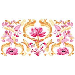 Kylpypyyhe Vallila Kirsikkalintu 70x140cm vaaleanpunainen