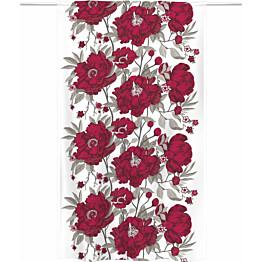 Sivuverho Vallila Rakkaustarina 140x240 cm punainen