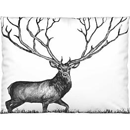 Tyynyliina Vallila Infinite Deer 50x60 cm musta
