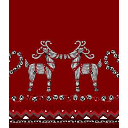 Kappaverho Vallila Olkipukki 60x250 cm punainen