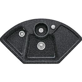 Keittiöallas Villeroy & Boch Solo Corner Chromit Metallinhohto musta CeramicPlus