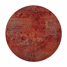 Matto VM Carpet Rustiikki mittatilaus pyöreä puna-oranssi