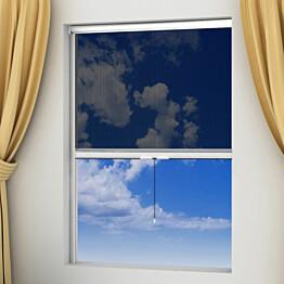 Valkoinen alasrullattava hyönteisverho ikkunaan 140 x 170 cm_1