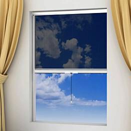 Valkoinen alasrullattava hyönteisverho ikkunaan 60 x 150 cm_1