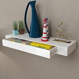 Valkoinen mdf seinähylly 1 laatikko kirja-/dvd-hylly_1
