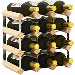 Viinipulloteline 12 pullolle kierrätetty puu_1