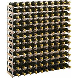 Viinipulloteline 120 pullolle kierrätetty puu_1