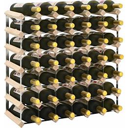 Viinipulloteline 42 pullolle kierrätetty puu_1