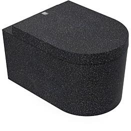 Seinä-WC-istuin Woodio Block Char musta