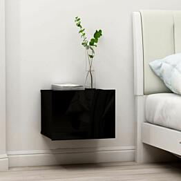 Yöpöydät 2kpl musta 40x30x30 cm lastulevy_1