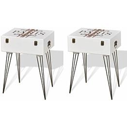 Yöpöytä 2 kpl 40x30x57 cm valkoinen_1