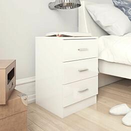 Yöpöytä korkeakiilto valkoinen 38x35x56 cm lastulevy_1