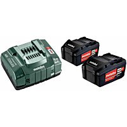 Akku-ja laturipaketti Metabo Li-Power 18 V 2x5.2 Ah