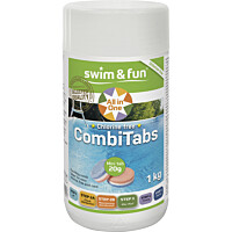 Aktiivihappi Swim & Fun CombiTabs 1 kg, sopii paljuille