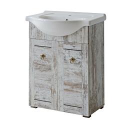 Allaskaappi Interia Provence 65, 62x79x33 cm, mänty antiikki