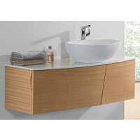 Allaskaappi Villeroy & Boch Aveo new generation A844 1316x400x508 mm Pure Oak + pesuallas