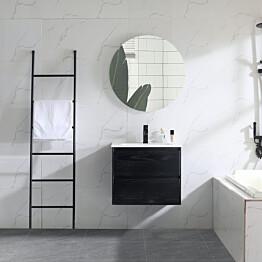 Allaslaatikosto altaalla Bathlife Lättsam, 600-1000mm, musta tammi