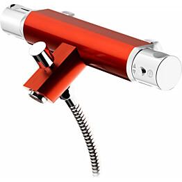 Amme- ja suihkutermostaatti GustavsbergColoric alumiinia punainen