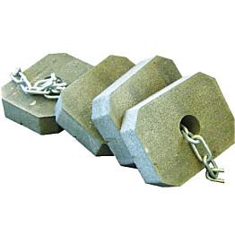 Ankkurointipaketti muoviponttonilaitureille 10x25 kg betoniankkurit
